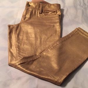 Lilly Pulitzer worthSkinny metallic pants Size 8